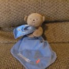 Carters Child Of Mine Captain Adorable Airplane Monkey Rattles Blue Security Blanket Lovey Plush 7""