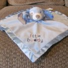 NWT Stepping Stones Little Buddy Blue Fleece Satin Puppy Dog Security Blanket 13x13""