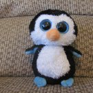 Ty Beanie Boo Waddles Black White Orange Penguin Lovey Plush Small 6""