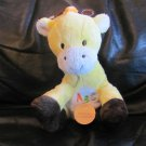 WT Carters Child Of Mine #83147 Yellow Giraffe ABC Musical Lovey Plush 8""