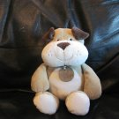 """Carters My First Puppy Tan White Brown Sewn In Features Puppy Dog Lovey Plush 10"""""""