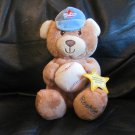 WT Kids II Rookie All Star Baseball Cap Take Out To The Ballgame Stitched Puppy Dog Lovey Plush 6""