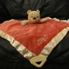 Disney Baby Orange Yellow Sweet As Honey Bee Winnie The Pooh Teether Security Blanket Lovey 14x14""