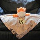 "Circo Target Orange Chevron Giraffe Bumble Bee Brown Security Blanket Lovey Plush 13x13"""