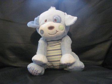 "Mary Meyer Baby Light Blue Striped Belly Cloth Corduroy Puppy Dog Plush 10"""