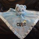 """Gerber Cute Dinosaur Blue Teddy Bear Security Blanket Lovey Plush 11x11"""""""