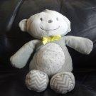 "Target Yellow Gray White Polka Dot Chevron Monkey Musical Crib Pull Toy 12"""