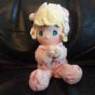 """Vintage 2002 Precious Moments Girl Pajama Nightcap Talking Praying Lovey Plush 9"""""""