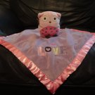 "Circo Target Pink Purple Love Owl Fleece Satin Security Blanket Lovey 12x13"""