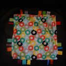 """Bright Starts Colorful Circles Satin Rubber Teether Taggies Fleece Security Blanket Lovey 11x12"""""""