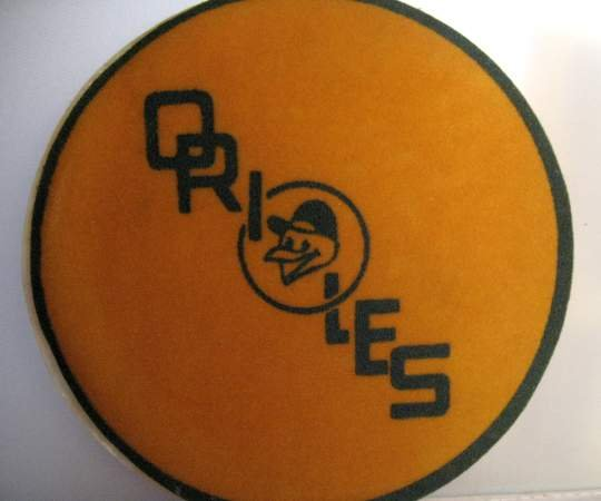 VINTAGE BALTIMORE ORIOLES BASEBALL TEAM PATCH,1960'S