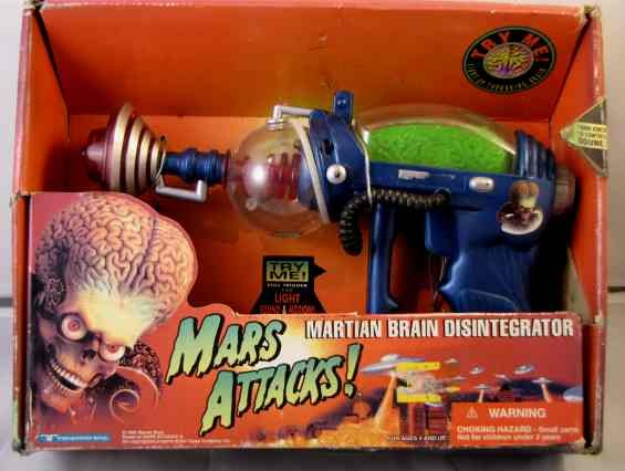 MARS ATTACKS MARTIAN BRAIN DISINTERGRATOR MINT IN BOX