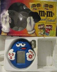 M & M'S HANDHELD COMPUTER GAME W/ BOX. UNUSED