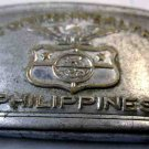 VINTAGE COMMONWEALTH PHILLIPINES STEEL BELT BUCKLE