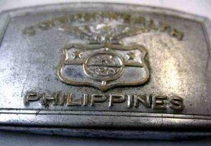 VINTAGE COMMONWEALTH PHILLIPINES STEEL BELT BUCKLE