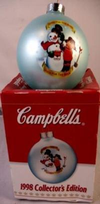 1998 CAMPBELL'S KIDS COLLECTORS EDITION ORNAMENT MIB
