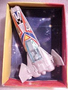 BUDDY L  1980 SPACE FIGHTER TOY SHIP, MINT IN BOX.