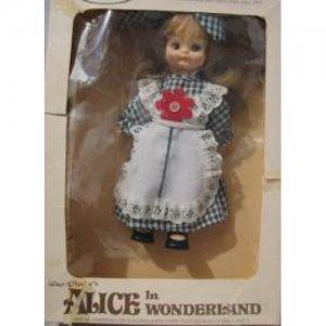 Walt Disney's Alice in Wonderland Doll, NRMIB, plastic with cloth dress.