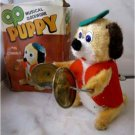 Windup Musical clockwork Puppy W/cymbals MINT IN BOX. FREE SHIPPING IN USA