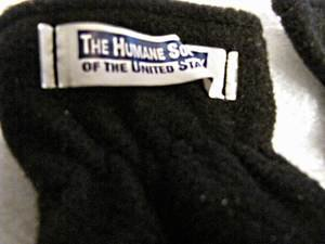 Pair soft black gloves marked �The Humane Society of the United States�one pair