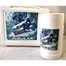 Crest Toothepaste Gelman Surfing Lunchbox and Thermos. all white molded plastic!