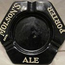 Old Molson's Canadian Ale porcelain over metal advertising ashtray collectible