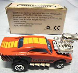 Matchbox special order dsylexicon diecast car mint bright orange white box