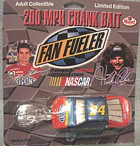 Jeff Gordon/Hank Parker Nascar fishing lure Dupont  racing car FREE USA SHIPPING