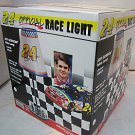 Older Jeff Gordon official racing lamp w/2 cars & flagging figure mint in box