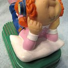 Cabbage Patch Kids AM figural plastic radio figure of a Cabbage Patch Girl