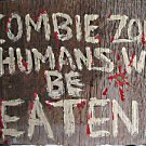 Zombie's Love finger foods..toe foods...hand painted wooden Sign by CJ  studios