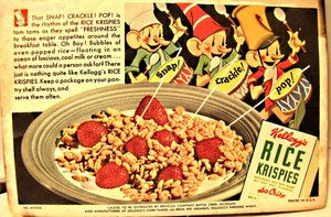 Rare Rice Krispies 1930s Advertising Ink Blotter FREE SHIPPING CONTINENTAL USA!