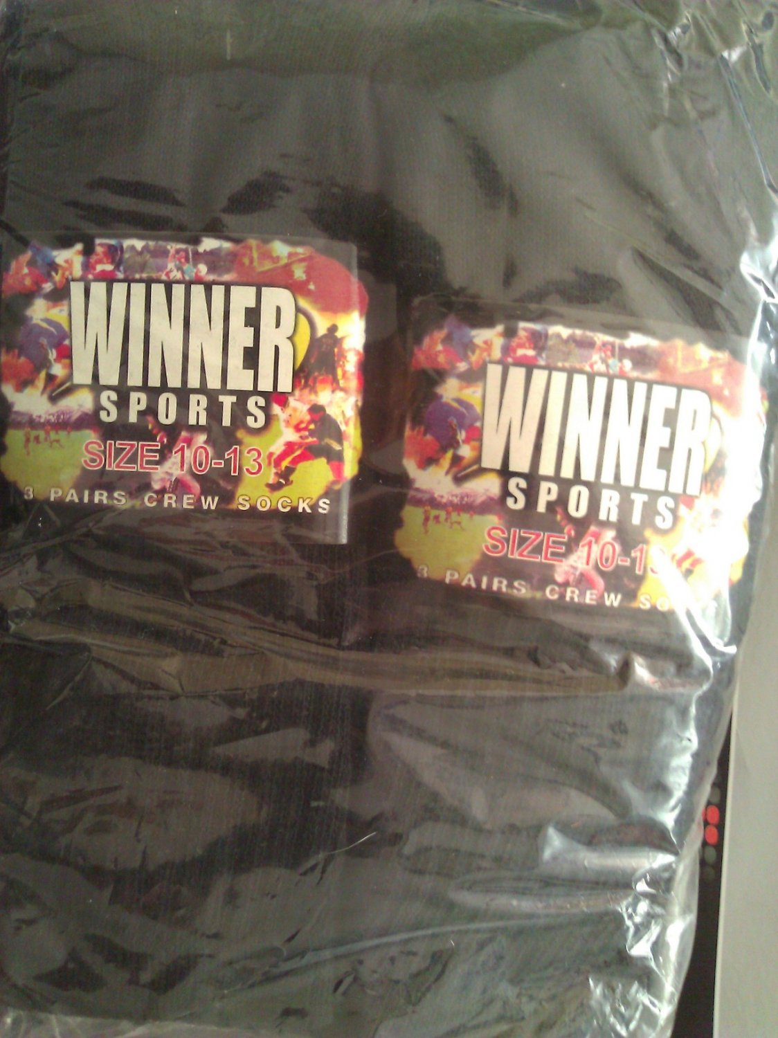 WINNER Sports BLACK Socks 12 Pairs
