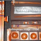DELUXE ROSEWOOD CHOPSTICK SET (4 pairs of chop sticks): THAI ROYAL BARGE CASE - FREE SHIPPING WWIDE