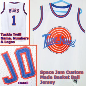 for a Bugs Bunny Space Jam Custom Jersey White #1 Mens Size XL