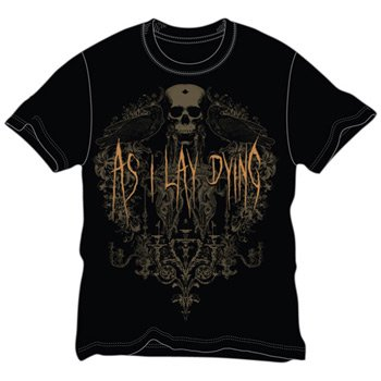 As I Lay Dying Crows Slim Fit T-Shirt Size LARGE