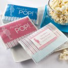 """About to Pop"" Microwave Popcorn Favor (Personalized Blue) - Minimum Order of 12 Required"