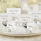 """Lucky in Love"" Silver-Finish Lucky Elephant Place Card/Photo Holder (Set of 4)"