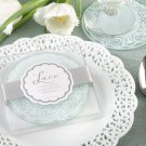 """Lace"" Exquisite Frosted-Glass Coasters"