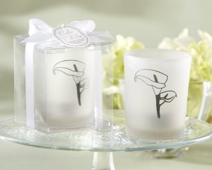 """""""Calla Lily"""" Frosted-Glass Tealight Holder (Set of 4)"""