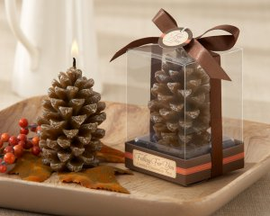 """Falling for You"" Scented Pine Cone Candle (Set of 4)"