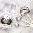 "Simply Elegant ""Love Beyond Measure"" Heart-Shaped Stainless-Steel Measuring Spoons"