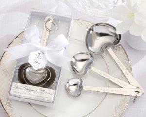 """Simply Elegant """"Love Beyond Measure"""" Heart-Shaped Stainless-Steel Measuring Spoons"""
