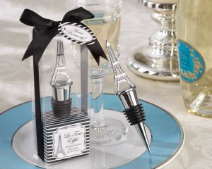 """La Tour Eiffel"" Chrome Bottle Stopper"