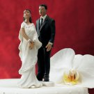 Contemporary Indian Bride and Groom Mix & Match Cake Toppers