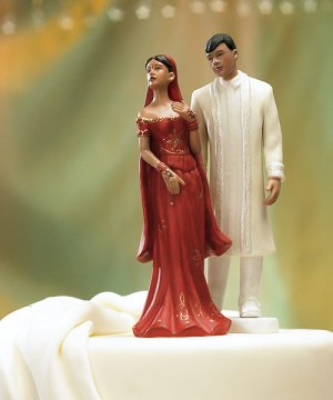 Traditional Indian Bride & Groom Mix & Match Cake Toppers