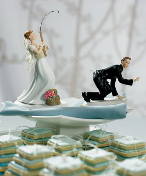 Gone Fishing Wedding Cake Topper - Sold Separately