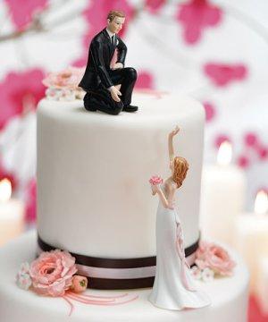 Reaching Bride and Helpful Groom - Sold Separately