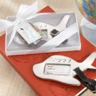 """Bon Voyage"" Silver-Finish Airplane Luggage Tag box"