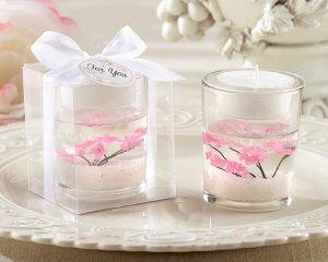 """""""Cherry Blossom"""" Blossom-Filled Tea Light Holder"""